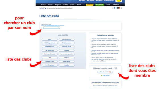 page clubs